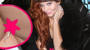 """Phoebe Price: """"Unten ohne""""-Blitzer mit Tampon-Band"""