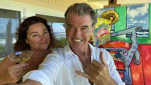 So cool gratuliert Pierce Brosnan seiner Frau zum Geburtstag