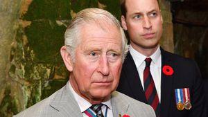 Prinz Charles und sein Sohn Prinz William