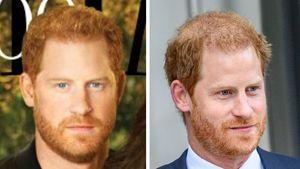 """""""Retusche"""": Harrys Haar auf Cover ganz anders als in echt"""