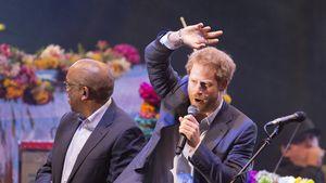 Royaler Rocker: Prinz Harry mit Coldplay auf der Bühne!
