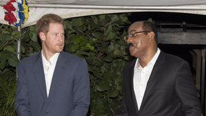 Prinz Harry mit Gaston Browne, Premierminister von Antigua