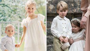 Prinz Oscar, Prinzessin Estelle, Prinz George und Prinzessin Charlotte