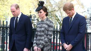Prinz William, Herzogin Kate und Prinz Harry in London