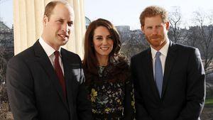 Prinz William, Herzogin Kate und Prinz Harry in London