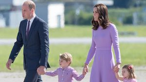 Prinz William, Prinz George, Herzogin Kate und Prinzessin Charlotte in Hamburg