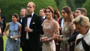 Prinz William mit Ehefrau Kate bei einer Gartenparty für den guten Zweck