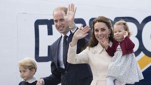 Prinz William und Herzogin Kate mit ihren Kindern Prinz George und Prinzessin Charlotte