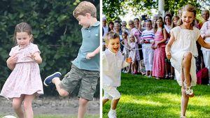 Wie die UK-Royals: Hier spielen Estelle und Oscar Fußball