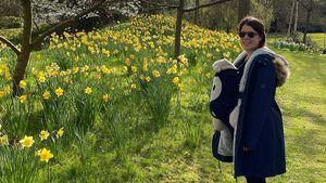 Sonniger Spaziergang: Prinzessin Eugenie mit Baby unterwegs