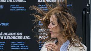 Total zerzaust: Dänen-Prinzessin Mary kämpft mit dem Wind