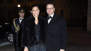 Prinzessin Victoria und Prinz Daniel von Schweden im Oktober 2016 bei einem Bankett in Stockholm
