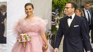 Bauschig! Victoria von Schweden bezaubert in rosa Tüll-Traum
