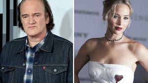 Quentin Tarantino und Jennifer Lawrence