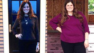 Rachel Frederickson nach und vor ihrer Gewichtsabnahme
