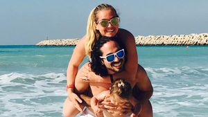 Rebecca Kratz mit Ehemann Julio und Tochter Alaia-Claire in Dubai