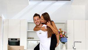 Endlich vereint: Clea-Lacy und ihr Riccardo wohnen zusammen
