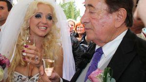 Richard und Cathy Lugner während ihrer Hochzeit 2014