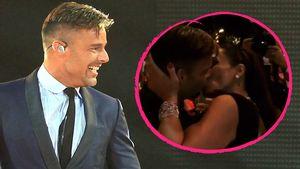 Schleck-Show: Schwuler Ricky Martin knutscht fremde Frau