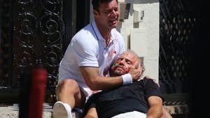 """Ricky Martin und Edgar Ramirez am Set von """"Versace: American Crime Story"""""""
