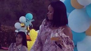 Rihanna auf der Geburtstagsparty ihrer Nichte Majesty
