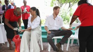 Rihanna und Prinz Harry beim HIV-Test in Bridgetown, Barbados 2016