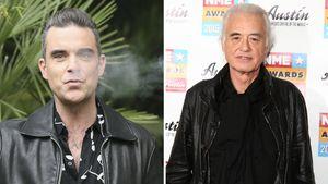 Robbie Williams und Jimmy Page
