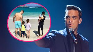 Das ist Robbie Williams' erstes Foto mit gesamter Familie!
