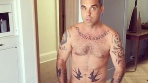 Robbie Williams in seinem Haus in Beverly Hills