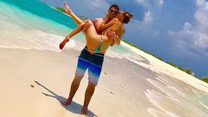Robin Thicke und April Love Geary auf den Malediven