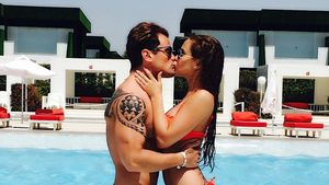Rocco Stark freut sich über einen Kuss mit Angelina