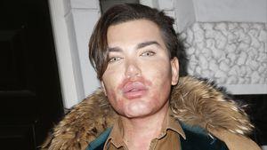 Rodrigo Alves beim Verlassen eines Schönheitssalons in London 2016