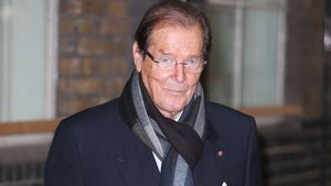 "Roger Moore in den ""ITV""- Studios in London"