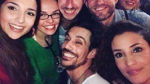 Rona Özkan, Philipp Christopher und Nadine Menz auf einer Party