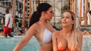 Heiße Küsse: Calvin-Ex-Girls Roxy und Jacky im Dubai-Urlaub