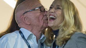 1. Knutsch-Bilder: Rupert Murdoch & Jerry Hall ganz verliebt