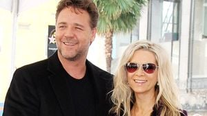 Russell Crowe, Tennyson Spencer Crowe, Charles Spencer Crowe und Danielle Spencer