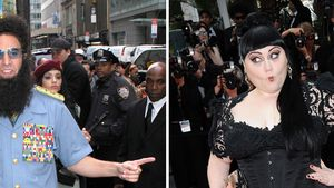 Cannes: Der Diktator tanzt lasziv Beth Ditto an