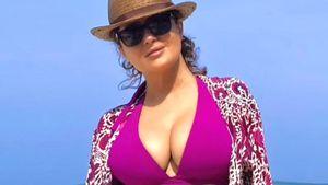 Photoshop-Fail: Hat Salma Hayek ihr Bikini-Pic bearbeitet?