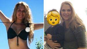 Bei 2. Schwangerschaft: Das ist Sara Kulka mit 30 Kilo mehr!