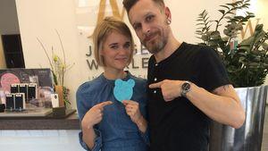 Sarah Elena Timpe beim Frisör
