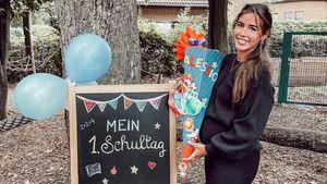 Alessios erster Schultag: Sarah Engels findet's unglaublich