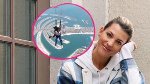 """Sarah Harrison vor Fallschirmsprung: """"Ich kriege Durchfall"""""""