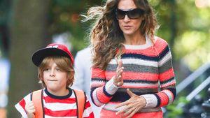 Ein gestreiftes Doppel: Sarah Jessica & ihr Sohn