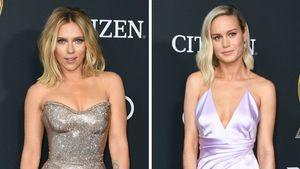 Scarlett Johansson & Brie Larson reagieren auf Fan-Tattoos!
