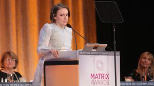 Schauspielerin Lena Dunham bei den Matrix Awards 2016 in New York City