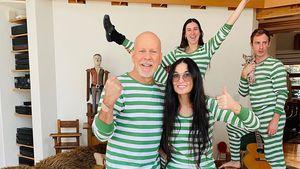 Entspannte Pyjama-Party bei Bruce Willis und Ex Demi Moore