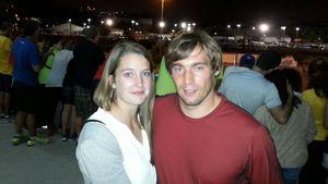 Sebastian Dietz mit seiner Freundin Sophie in Rio