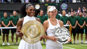 Serena Williams und Angelique Kerber beim Grand Slam Turnier in Wimbledon