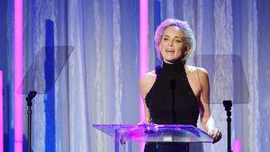 Ohnmacht auf FW: Sharon Stone in Klinik gebracht